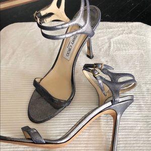 Jimmy Choo, iridescent blue/purple stiletto heels